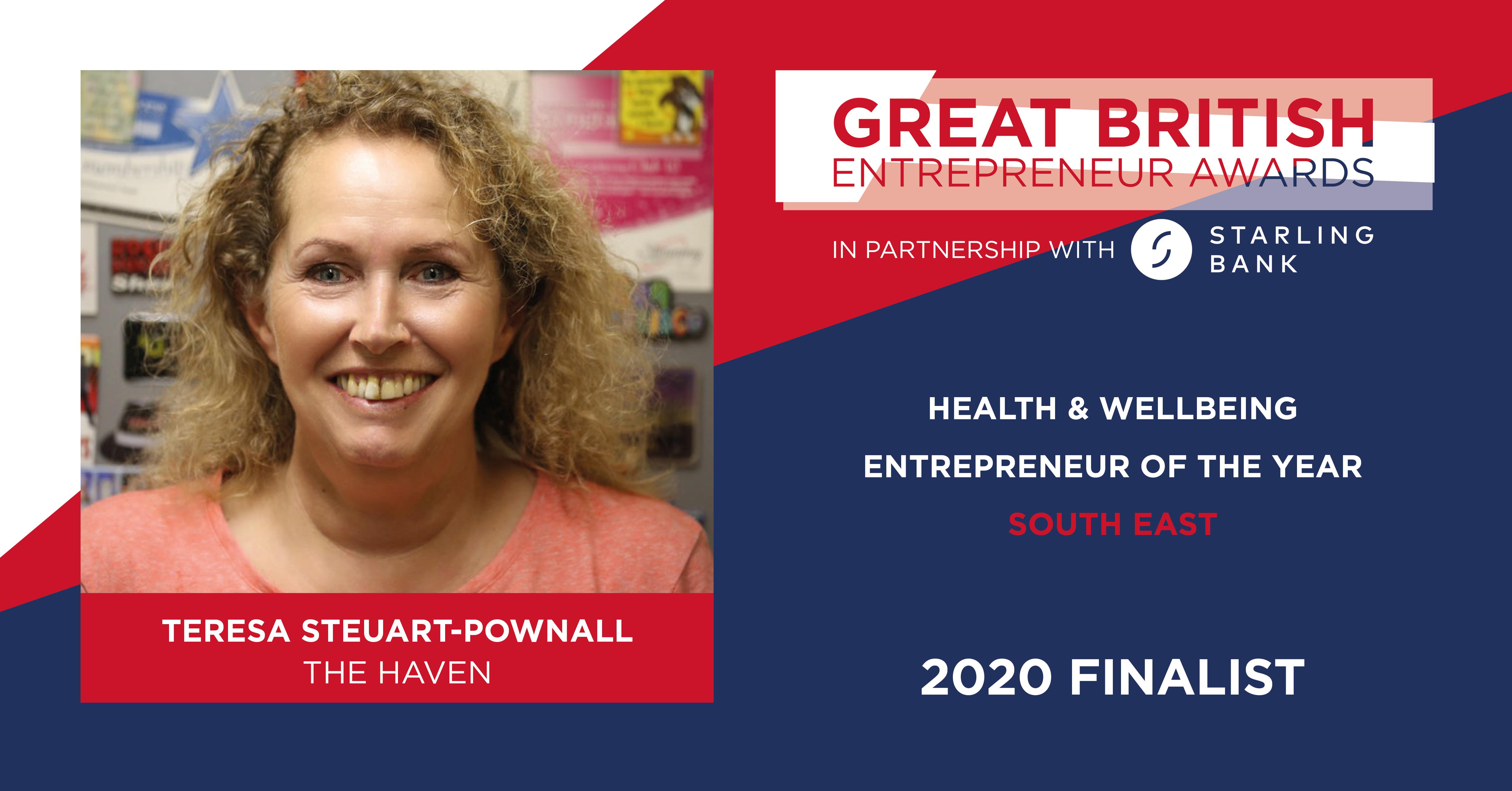 Teresa Steuart-Pownall - Finalist, Great British Entrepreneur Awards